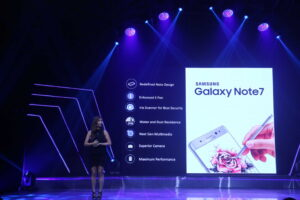 Melani Lok, Product Marketing Manager for Flagship Smartphones at Samsung Electronics Philippines tells about the features of Samsung Galaxy Note7