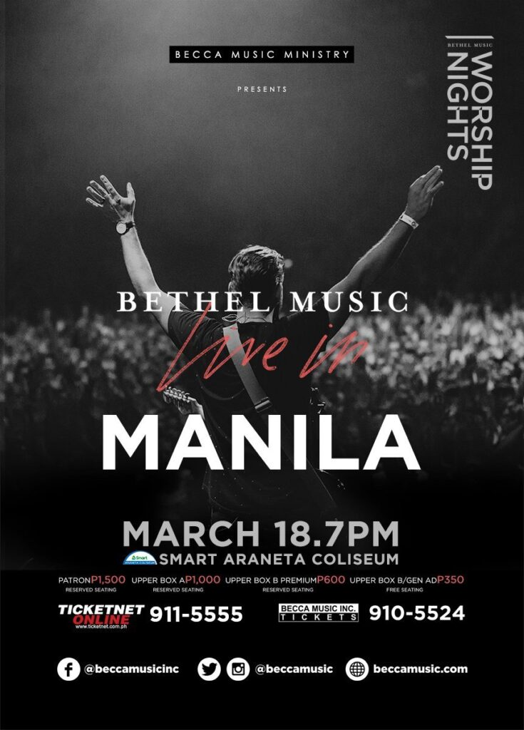 Bethel Music Live in Manila Poster
