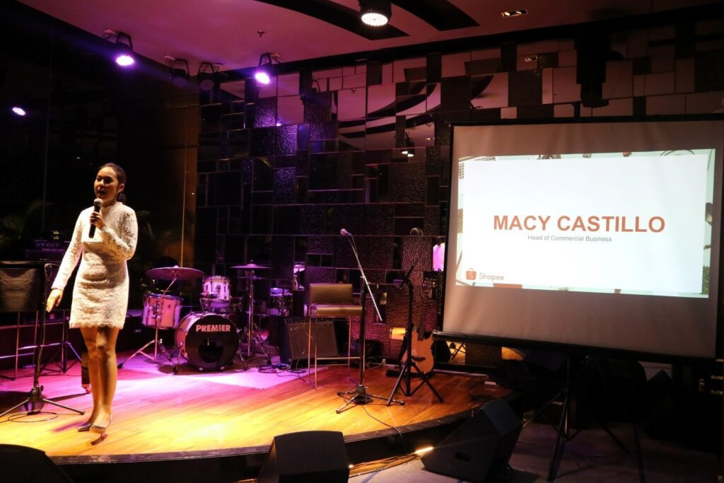Macy Castillo, Shopee's Head of Commercial Business. Shopee is a mobile-first shopping app