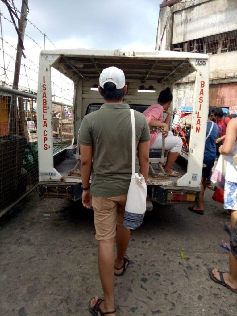 Police mobile at Isabela City Port