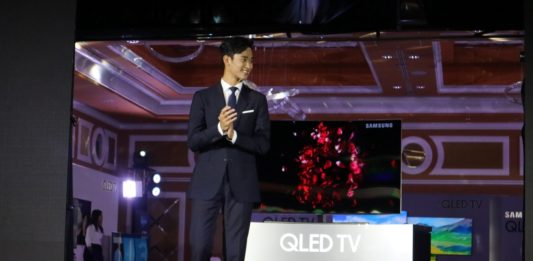 Kim Soo Hyun at Samsung QLED TV Philippine Launch
