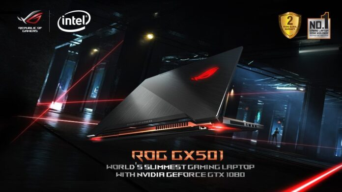 ASUS ROG GX501 - World's Slimmest Gaming Laptop with NVIDIA GeForce GTX 1080