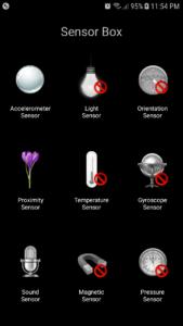 Samsung Galaxy J7 Core - Sensors