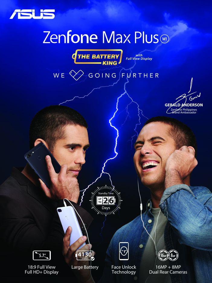 ASUS Zenfone Max Plus M1 - Gerald Anderson - Official Photo