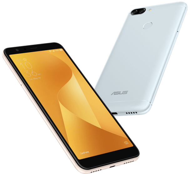 ASUS Zenfone Max Plus in Azure Silver and Sunlight Gold
