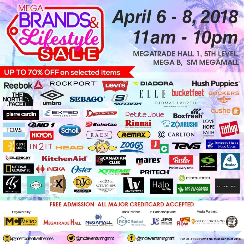 On April 6-8, 2018, Metro Creative Themes Inc. will  kick starts the season's anticipated sale with the MegaBrands and Lifestyle Sale happening at Megatrade Hall 1, 5th Level, Bldg B of SM Megamall