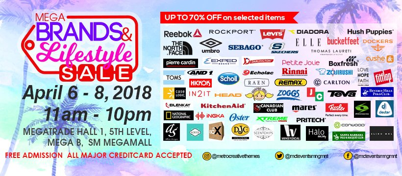 22nd MegaBrands & Lifestyle Sale at SM Megatrade Hall