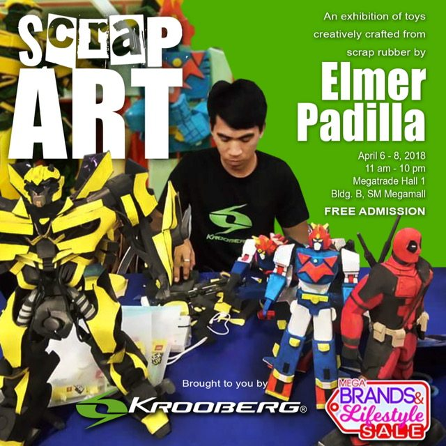 """Mr. Elmer Padilla's Pinoy-Made """"stinelas"""" brought to you by Krooberg at 22nd MegaBrands & Lifestyle Summer Sale"""