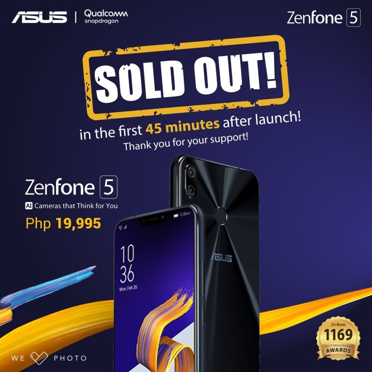Zenfone 5 Soldout April 14!