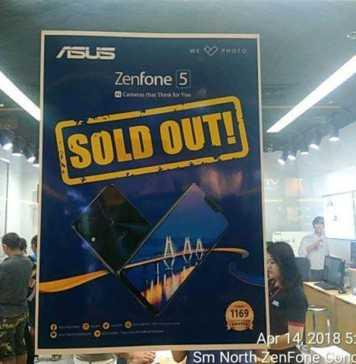 SM North Zenfone Concept Store - Zenfone 5 Soldout April 14