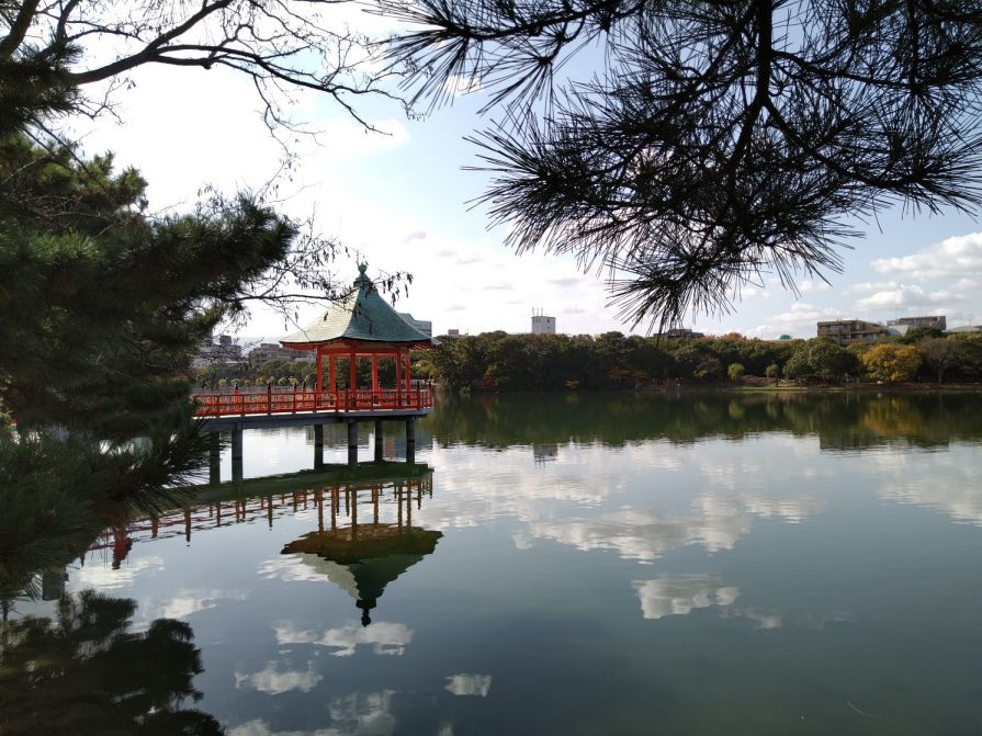 Ohori Park, discovered at the heart of Fukuoka City in Japan