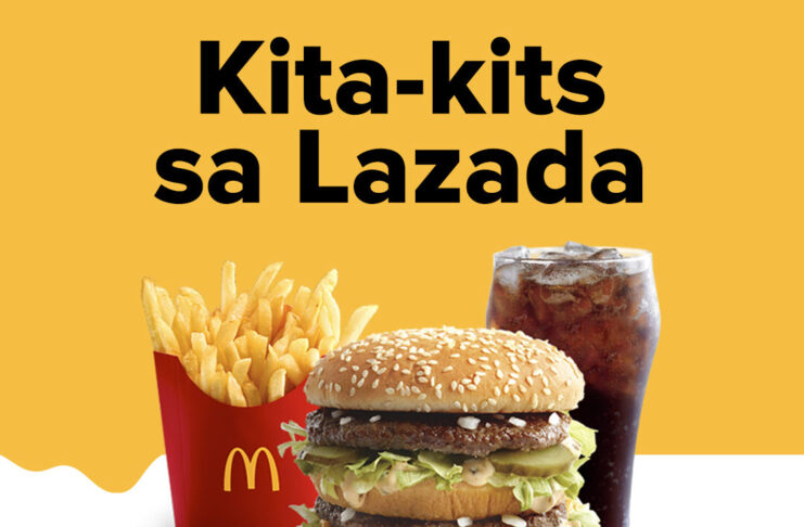 McDonalds now available at Lazada